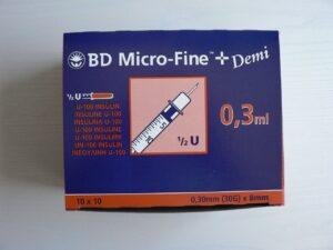 U-100 Insulinspritzen BD MICRO FINE